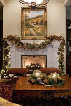 Suzy q, better decorating bible, blog, ideas, Christmas, holiday, theme, colors, décor, interior, design, garlands, drape, mantel, pictures, cozy, family, warm, hues, ideas, dim lights, glitter, or (3)