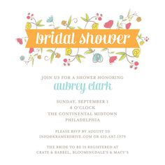 Bridal Shower Invitation by Kramer Drive | available at Salutations