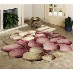 Cecily Round Flower Rugs