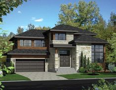 Two-Story Contemporary House Plan - 80843PM | 2nd Floor Master Suite, Butler Walk-in Pantry, CAD Available, Canadian, Media-Game-Home Theater, Metric, PDF, Photo Gallery | Architectural Designs