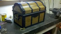 Treasure chest (oak, walnut stain, teak oil) by ~Craftsman107 on deviantART