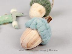 Κρεμαστά στολίδια από τσόχα, ξύλο και μαλλί | bombonieres.com.gr