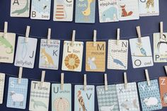 Using alphabet cards