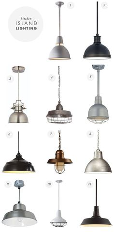 farmhouse industrial hanging pendant lights - heirloom way