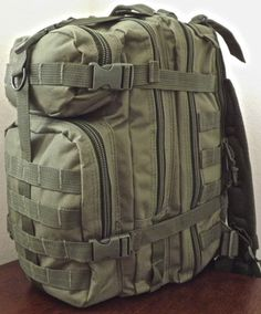 Military Police Tactical Green Duty EDC MOLLE Backpack | eBay
