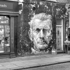 Samuel Beckett #street #art #mural #illustration