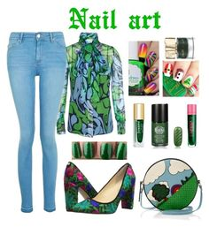 """nail art"" by priyaarun on Polyvore featuring beauty, Ivanka Trump, Miu Miu, Lipstick Queen, Smith & Cult, Topshop and Olympia Le-Tan"