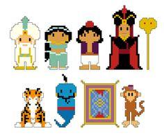 Aladdin Pixel People Character PDF pattern by CheekySharkLabs