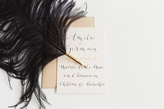Modern Calligraphy – Wedding Invitation - Quill London - Photographer Claire Graham www.quilllondon.com