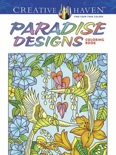 Retreat to a Garden of Eden–like setting with more than 30 gorgeous images to color. Intricate black-and-white drawings feature lush vegetation and exotic bird and insect life in scenes of an earthly paradise.