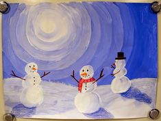 3rd / 4th / 5th / 6th: winter value snowmen. tints