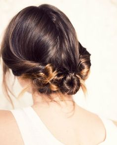 13 Easy Updos for Your Holiday Parties and Beyond via Brit + Co