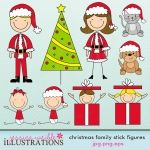 Navidad de la familia Stick Figures