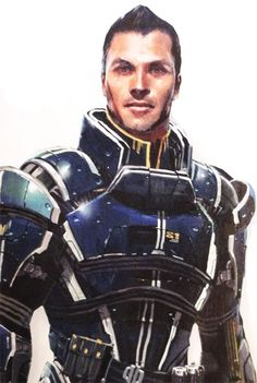 Mass Effect - Kaidan Alenko. i love this drawing of him. although i still want…