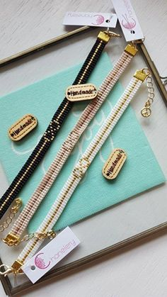 off loom beading stitches Diy Bracelets And Anklets, Bead Loom Bracelets, Woven Bracelets, Loom Bracelet Patterns, Bead Loom Patterns, Beading Patterns, Beading Ideas, Seed Bead Jewelry, Beaded Jewelry