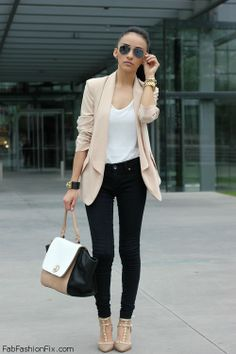 The perfection of pastel color blazer