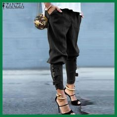 ZANZEA Women 2016 Summer Autumn Women Harem Pants Casual Loose Elastic Waist Long Pants Leisure Trousers Army Green Plus Size We offers a wide selection of trendy style women's clothing. Affordable prices on new tops, dresses, outerwear and more. Fashion Mode, Look Fashion, Fashion Clothes, Womens Fashion, Fashion Trends, Fashion 2015, Fashion Check, Fashion Online, Fashion Pants
