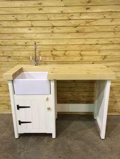 Belfast sink unit - solid wood -freestanding kitchen unit | Kitchen ...