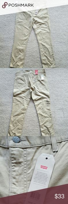Levi's 511 Slim Fit Chinos W34 L30 Brand new with tags men's Levi's 511 Slim Fit chinos. Khaki with button front. 5 pocket styling. Features slant front pockets and patch pockets in back.  Originally $68 but can be yours for $33!!! Levi's Pants Chinos & Khakis