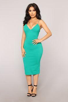dc79717e08bc Dynamic Brights Midi Dress - Kelly Green