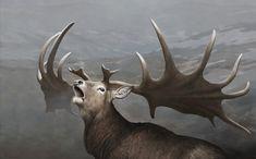 The Giant Deer Megaloceros giganteus by Tom Björklund