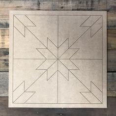 Quilt Pattern 2 DIY, Unfinished Wood Cutout, Paint by Line Quilt Pattern 7 DIY, Unfinished Wood Cutout, Paint by Line - Build-A- Quilt Square Patterns, Barn Quilt Patterns, Square Quilt, Craft Patterns, Wooden Shapes, Wooden Cutouts, Barn Quilt Designs, Quilting Designs, Blackwork