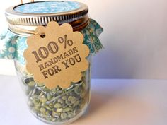"""favor tag """"100% handmade for you"""" for #wedding #favors by clip and pin"""