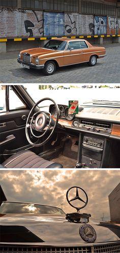 The Mercedes-Benz W114 280 CE from 1973. Photos by Jens Tanz (www.sandmanns-welt.de).