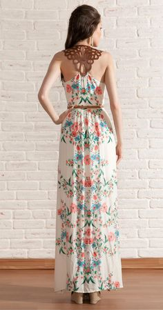 Vestido Longo Flores   Novidades   Antix Store