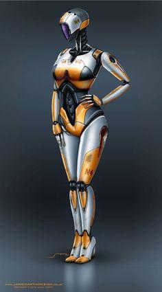robot/cyborg: PitGirl by Jamie Martin Design.co.uk 2012 (via RoboMotos.blogspot.fr)