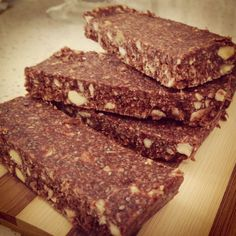 Merrymaker super food bars bars...#paleo  dates, cinnamon, coconut oil, coconut, raw cacao and nuts....