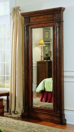 Floor Mirror with Jewelry Armoire Storage, Hooker Furniture, Accents