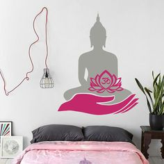 Wall Decal Lotus Flower Om Namaste Symbol Hand Vinyl Sticker Murals Yoga Zen…                                                                                                                                                                                 More
