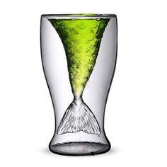 Unique Mermaid Beer Glass Mug Transparent Wine Glass Cup Beer Cup Coffee Mug Cup
