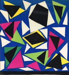 Henri Matisse - 1952. No further info on this. Can't tell if it's cut paper on paint, but I love his colours and this would make such a great fabric pattern.