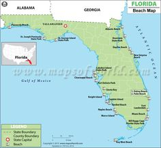 Map of best Florida beachs  -  New Smyrna made the cut!