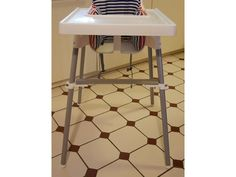 The lack of a foot rest is really the only issue with the well-known IKEA ANTILOP baby high chair. We found several ideas online on how to add a foot Antilop High Chair, Ikea High Chair, Kitchen Design Software, Interior Design Games, Kitchen Cabinets Pictures, Ikea Baby, Baby Chair, Ikea Kids, Colorful Chairs