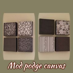 Mod podge canvas