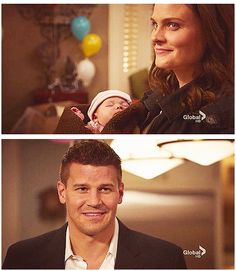 #bones #booth #brennan lOVE THEM! I love that smile he gets :)