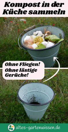 Ökologisch, sauber, ohne Fliegen, Maden, Gerüche und ohne Chemie. Ein einfacher Trick hilft den Kompost in der Küche hygienisch zu sammeln.