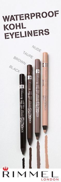 These creamy, highly pigmented Rimmel London Scandaleyes Waterproof Kohl Eyeliners need a spot in your makeup bag. They glide on and make it easy to create smokey eyes and more. Check out these eyeliner swatches and see our full collection of smudge-proof eyeliners here.