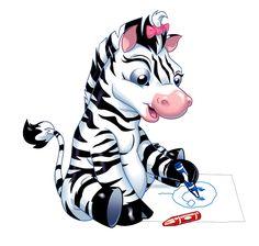 funny cartoon zebra clip art http zebra pictures clipartonline net rh pinterest com Cartoon Tiger Clip Art Cartoon Tiger Clip Art