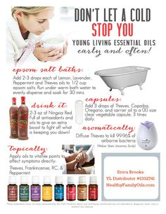 How to Fight a Cold Using Essential Oils HealthyFamilyMatters.com #naturalremedies #aromatherapy