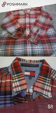 Male Tommy Hilfiger long sleeve Pre loved in great condition (: Thank you Tommy Hilfiger Shirts Casual Button Down Shirts