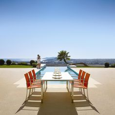 Fusion Outdoor Dining Setting by Gloster.