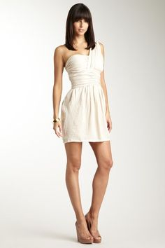 MM Couture  One Shoulder Solid Knit Dress