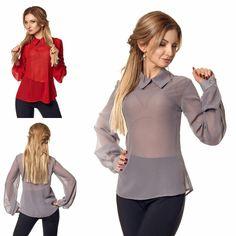 426a51a96bb Эффектно и стильно смотрится блуза необычного дизайна. Модель пошита из  мягкой