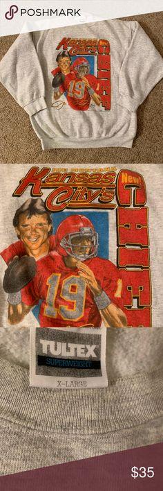 2ba8ec01b4c Vintage Kansas City Chiefs Joe Montana Sweatshirt