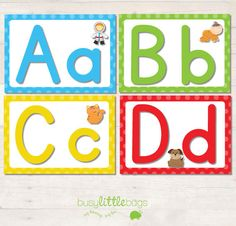Alphabet Flash Cards - Bright - AUTOMATIC DOWNLOAD