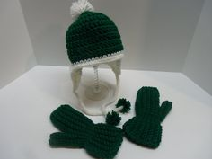 Hand Crocheted 12 Year Old Beanie with by Tinastreasureisland, $11.00
